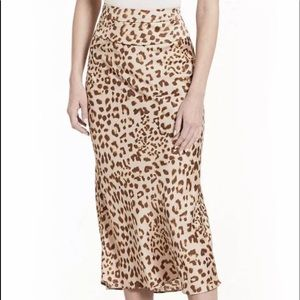 NET Free People Norman's Bias Camel Combo Skirt 0